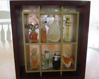 SHADOWBOX  PERFUME BOTTLES  / 8 different perfumes
