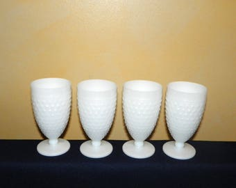 Anchor Hocking Set of 5 Hobnail Milk Glass Water Goblets, Set of 5 I found One More