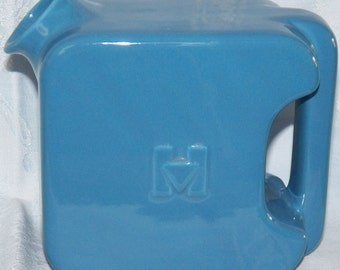 Vintage Hall China Hotpoint Refrigerator Water Server Pitcher Dresden Blue