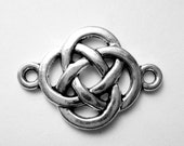 16 Celtic knot connectors antique  silver jewelry  charms Celtic love Irish knot pendants wedding love knot charms 8S 0715-(EE4)