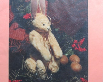 Weston/Craft Sewing Pattern by Christmas Memories/1989/11 in Rabbit/Primitive Decor/Christmas Bunny