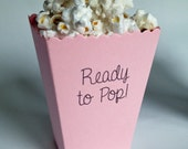 Baby Shower Popcorn Favor, Ready to Pop Popcorn Box, Popcorn Box Favor, Mini, Personalized Matte Paper