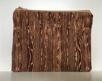 Reusable Sandwich Bag, Eco Friendly, Nylon Zipper Reusable Sandwich Bag, Wood