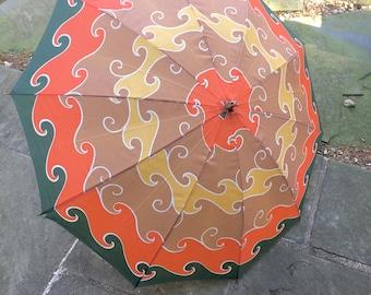 Vintage Funky Retro Umbrella