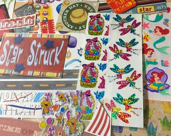 Lot of Over 250+ Stickers Scrapbook Planner Card Making