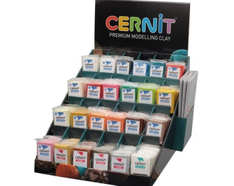 Cernit Polymer Clay - 12 x 56g Packs of Number One Range Modelling Clay in Your Choice of Colours or Random Mix. UK Supplier