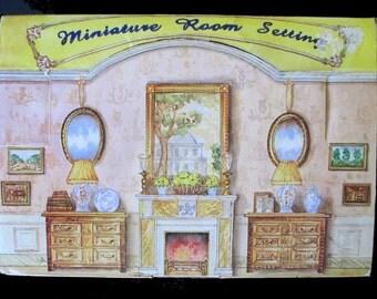MINIATURE ROOM SETTING * In Display Box * Bedroom Set * Furniture In Original Plastic * Popular Imports