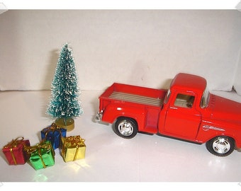 Christmas Red Truck OR with Tree/Packages/ Minis/ Holiday Decor / Craft Supplies*