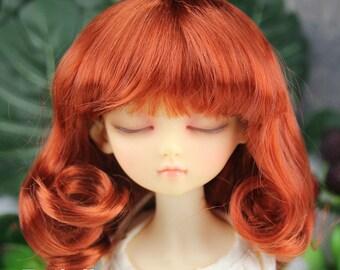Fatiao - New Dollfie MSD Kaye Wiggs 1/4 BJD Size 7-8 inch - Carrot Dolls Wig