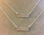 NEVERTHELESS SHE PERSISTED  sterling silver bar necklace --hand stamped. feminism politics election democrat election 2016 anti-trump Warren