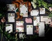 Colorful Floral Wedding Invitation, Floral Wedding Invitation, Flower Invitation, Vintage Wedding Invitation, Botanical Invitation