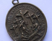 On Sale Antique Religious Medal Saint Peter Baptista Jesuit And 22 Friends Martyrs Of Japan Pope Pius IX  SS 105