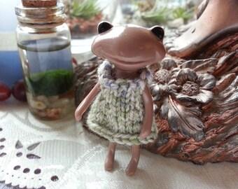 Fortune Wanda Friend Knit Dress - green - Wanda Frog - Wonder frog