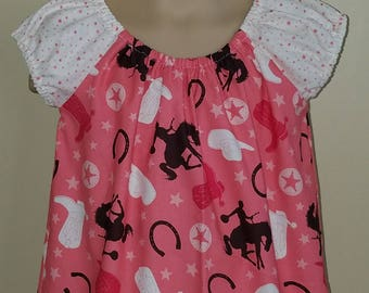 STORE CLOSING, Cowgirl Peasant Dress, Horse