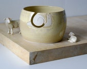 Made to Order - The happy snail yarn bowl, hand thrown custom pottery yarn bowl