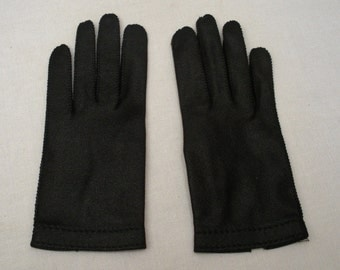 Vintage Crescendoe Black Driving Gloves