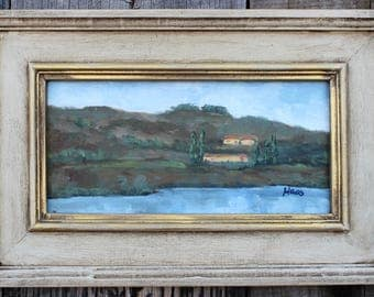 TWIN BROTHERS, Back Side - 6 x 12 - Napa - Marina - California - Plein Air - Landscape - Original Oil Painting - Home Decor - Art