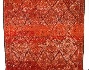 Fire in the Sky - Classic deep red Zayan Berber rug (40's/50's)