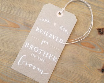 Wedding Seat Sign Reserve Ceremony Decor Reserved Chair Tag