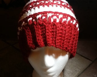 Striped Crocheted Hat