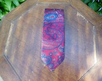 paisley neck tie / 90s vintage / mens neck tie / savannahwillow