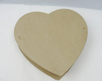 Large paper mache heart gift box, DIY Keepsake Box