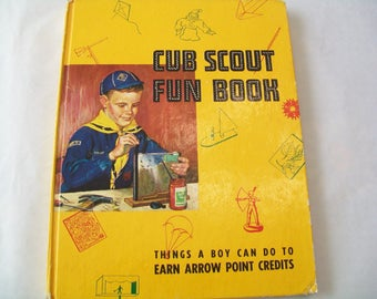 1950s Cub Scout Fun Book, craft book, hardbound, how to