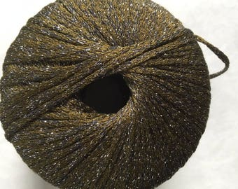 S. Charles Collezione Stella #13 Dark Sage Green 74 percent Silk,  26 percent Metallic Yarn 25 gram