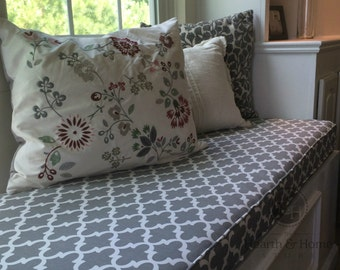 Custom Window Seat Cushion , Mudroom Cushion,  Bench Cushion, Nook Cushion, Bench Seat Cushion, Kitchen Banquette Cushion, Chair Pad