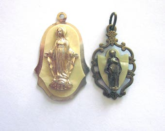 Vintage Virgin Mary Religious Medals W. Germany and Italy