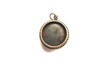 Tin Type Photo Locket Gold Filled Victorian Fob Charm Pendant Antique Parts Repair Supply Bits