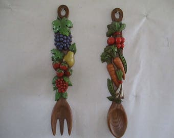 Vegetable Fork and Spoon Wall hanging