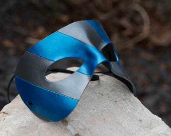 Blue and Silver Masquerade Mask