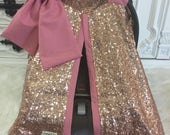 Rose Gold and Blush / CAR SEAT COVER / car seat canopy / nursing cover / carseat cover / carseat canopy / ooak / sequin / infant car seat co