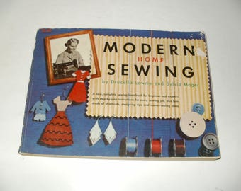 Vintage 1952 Modern Home Sewing Softcover Book-800 Illustrations, Sewing, Hobby, Collectible