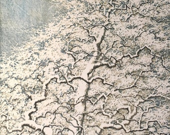 Woodblock Print Tree No. 27 Original Handpulled Fine Art Reduction Print Limited Edition Moku Hanga Award Winner