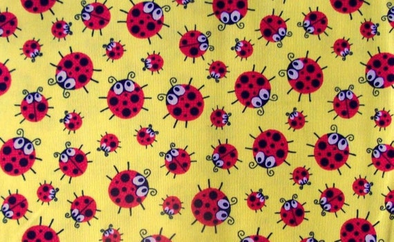 Cute ladybug 100 cotton timeless treasures fabrics of sollo for Minecraft fabric by the yard