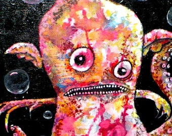 Freddie and his Bubbles Octopus Original Painting