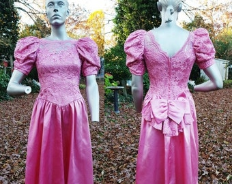 Satin n lace prom dresses 80s style
