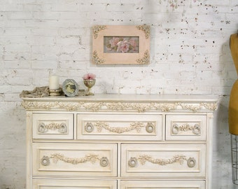 Painted Cottage Chic Shabby Romantic French Dresser DR888