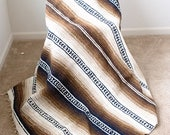 Mexican Style Falsa Earth Tone Blanket - RESERVED FOR CLAIRE