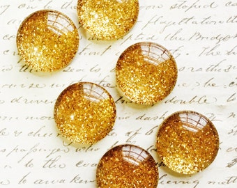 Magnets - Gold Magnets - Decorative Magnets - Glass Magnets - Office Magnets - Office Supplies - Office Organization - Gold Office Decor