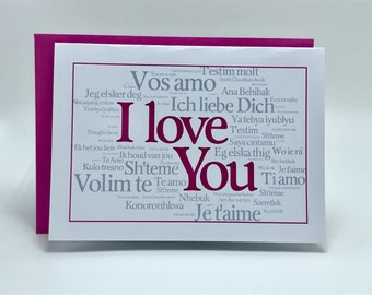 Folded I Love You Note Card
