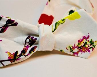 Floral Necktie Wildflower Necktie Spring Necktie Mens Bow Tie Self-Tie Bow Tie Floral Neckties