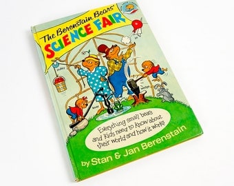 Vintage 1970s Childrens Book / Berenstain Bears' Science Fair by Stan Jan Berenstain 1977 Hc VGC / Machines Matter Energy and How It Works