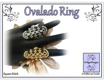 Tila Beading Pattern, Tutorial, Ring - OVALADO