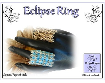 Tila Beading Pattern, Tutorial,Ring - ECLIPSE