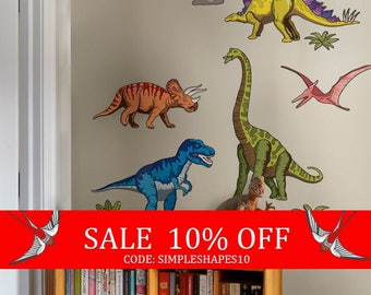 Sale - Dinosaurs Wall Stickers - Peel and Stick Wall Sticker