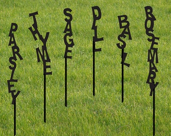 Herb Markers / Rustic