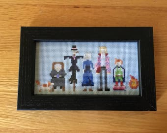 Howl's Moving Castle Framed Cross Stitch